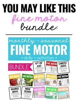 Christmas Fine Motor Practice, Skills and Activities