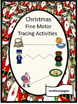 Christmas Fine Motor Tracing Activities Pre-K. K. Special Education, Autism