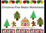 Christmas Fine Motor Tracing and Coloring Pages