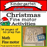 Christmas Roll and Dab -Fine motor activities