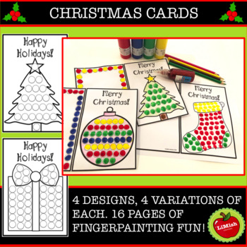Christmas Finger Painting Cards