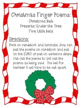 Christmas Finger Poems