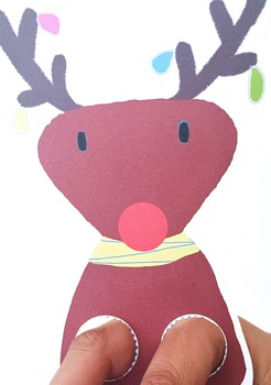 Christmas Finger Puppets, Craft and Coloring Activities