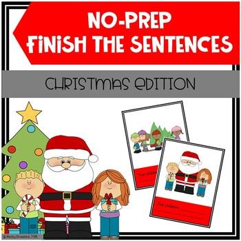 Christmas Finish The Sentences No-Prep Activity