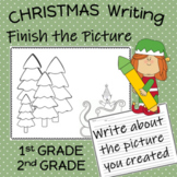 Christmas Finish the Picture Writing Center Activity