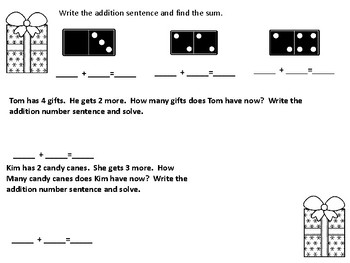 Christmas First Grade Addition Concepts