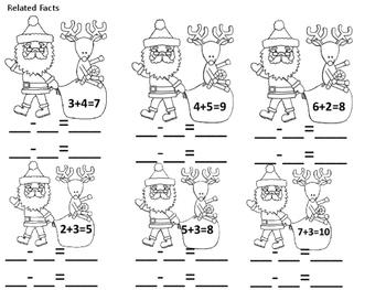 Christmas First Grade Math Review