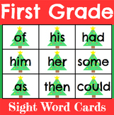 Christmas First Grade Sight Word Cards