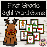 Christmas First Grade Sight Word Game