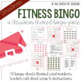 Christmas Fitness Bingo