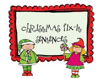 Christmas Fix-It Sentences