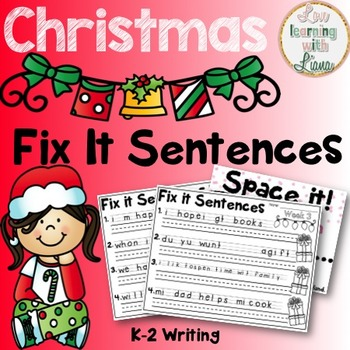 Christmas Fix It Sentences