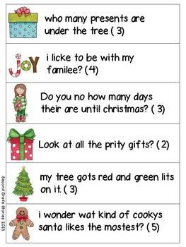 Christmas Fix-It ~ an editing activity
