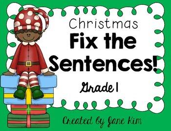 Fix the Sentences-Christmas