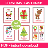 Christmas Flash Cards; Kindergarten; Preschool; Homeschool