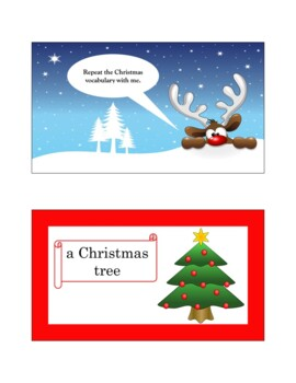 Christmas Flash Cards, Word Wall, and PowerPoint Presentation