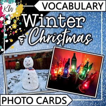Winter and Christmas Vocabulary Photo Flashcards