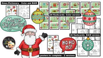 Christmas Flashcards and Pictionaries
