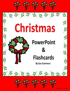 Christmas Flashcards and PowerPoint Presentation 65 Slides