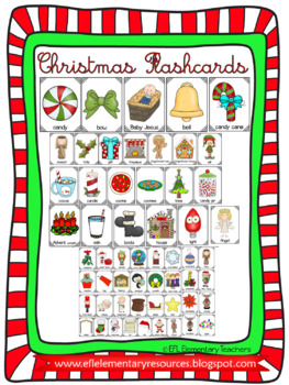 Christmas Flashcards for Elementary ESL/EFL/ELL