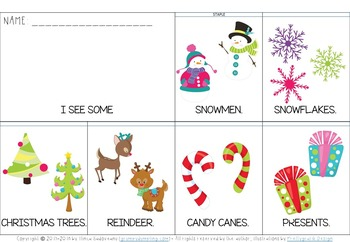 Christmas Flip Books for Emergent Readers (uppercase and lowercase letters)