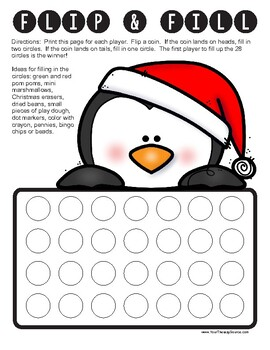 Christmas Flip and Fill Game - Fine Motor Fun