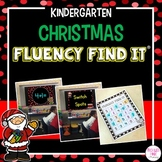 Christmas Fluency Find It (Kindergarten)