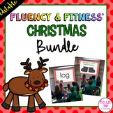 Christmas Fluency & Fitness® {EDITABLE} Brain Breaks