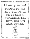 Christmas Fluency Packet FREEBIE