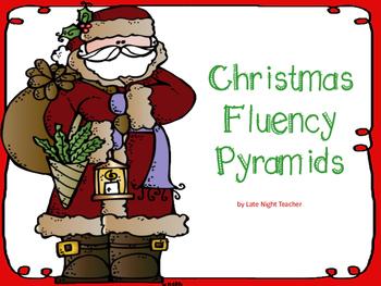 Christmas Fluency Pyramids