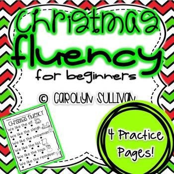 Christmas Fluency Sentences for Beginning Readers