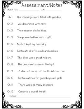 Christmas Fluency Strips