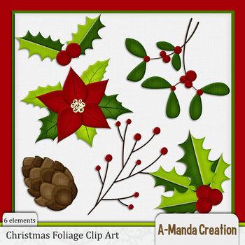 Christmas Foliage Clip Art