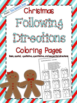 Christmas Following Directions Coloring Packet