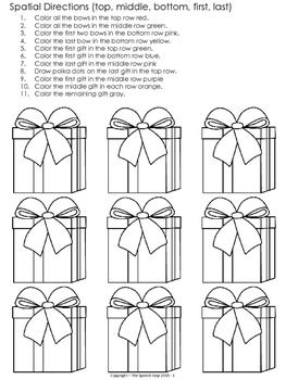 Following directions coloring pages ~ Christmas Following Directions Coloring Packet by Jessica ...