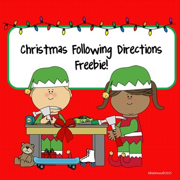 Christmas Following Directions Freebie