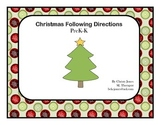 Christmas Following Directions PreK and K