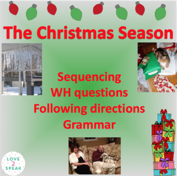 Christmas Following Directions, Reading Comprehension & Se
