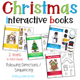Christmas Adapted Books Following Directions + Sequencing