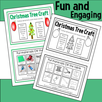 Following Directions with Christmas Activities & Craft in Speech Therapy