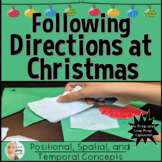 Following Directions at Christmas in Speech Therapy