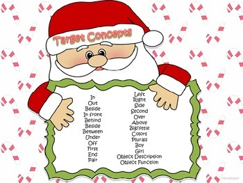 Christmas Basic Concepts Following Directions for Speech and Language