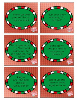 Christmas Following Multistep Directions Flashcards