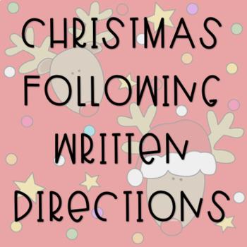 Christmas Following Written Directions