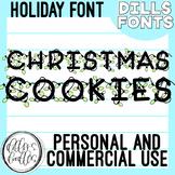 Christmas Font: Holiday Lights!