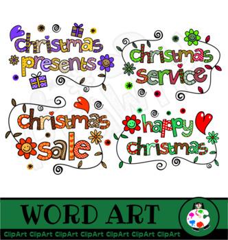 Christmas Lettering Clip Art