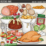 "Christmas Food Clip Art: ""Festive Fare"""