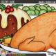 "Christmas Food Clip Art: ""Festive Fare"""