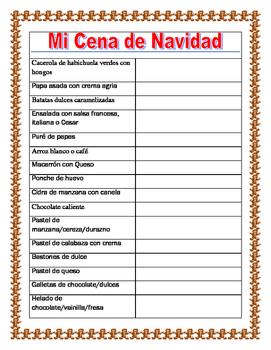 Christmas Foods- Mis Comidas de Navidad- Food in Spanish