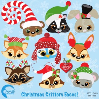Christmas Clipart, Forest Critters Clipart, {Best Teacher Tools} AMB-504